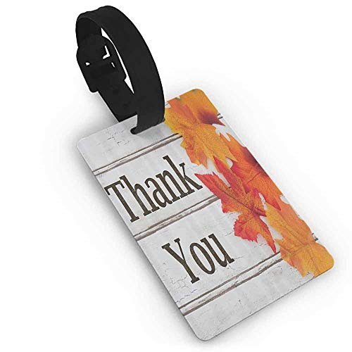 Tags Portable Label Fall Leaves Decor Collection,Foliage on Wooden Planks Maple Leafs Harvest Design,Grey Orange Black Boarding Tags