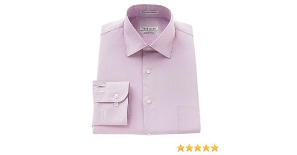 Van Heusen clásico Royal Herringbone textura camisa Lavanda Clavel, color rosa