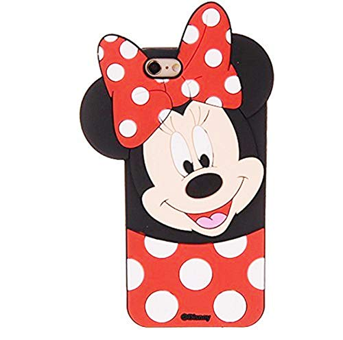 Cases for iPhone 5S 5 5C SE Case, Minnie 3D Cartoon Animal Soft Slim Silicone Bumper Protective Cover Shockproof Case, Kids Girls Teens Cute Gifts Cases, Thick Funny Protector Skin for iPhone SE/5S/5C (Iphone 5s Cases Disney)