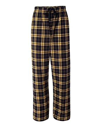 YogaColors Emoticon Cotton Flannel Lounge Pajama Pants in Many Different Color Combos (Small, Black/Gold)