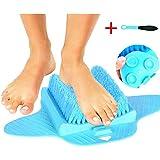 niuchaichai Bathroom Foot Brush Cleaning Slipper Massage Brush Scrubber and Sucker - and Pedicure Tool P2(Blue)
