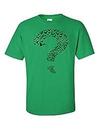 Jacted Up Tees Bat Design Question Mark Big Bang Theory Men's T-Shirt