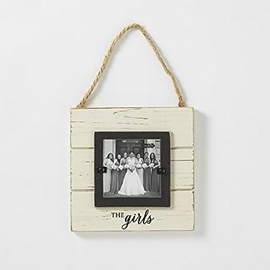 Mud Pie  The Girls  Door Hanger Frame, 3 1/2 x 3 1/2