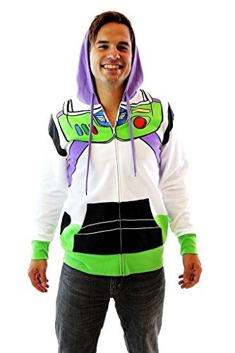 Toy Story Buzz Lightyear Astronaut Costume Hoodie Sweatshirt (Adult XXX-Large) -