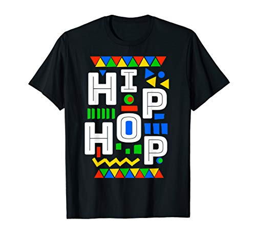 80's Hip Hop party Vibes dashiki pattern costume T-Shirt -