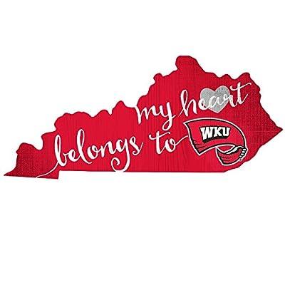 Fan Creations State Sign Western Kentucky My Heart Belongs, Multi