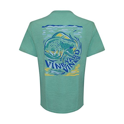Vineyard Vines Men's Short Sleeve Graphic Pocket T-Shirt (Antigua Green/Painted Mahi, (Painted Pocket)