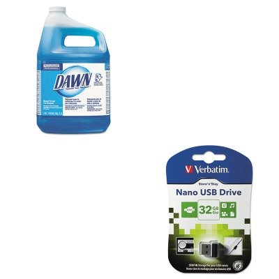 KITPAG57445EAVER98130 - Value Kit - Verbatim Store 'n' Stay USB 2.0 Drive (VER98130) and Dawn Liquid Dish Detergent (PAG57445EA) -