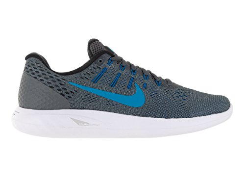 Nike Lunarglide 8, Zapatillas de Running para Hombre Dark Grey/Blue Glow/Blk/Bl Gry
