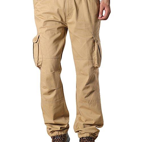 Slim Kppong Taille Mode Military Cargo Cool Casual Grande poche Pantalon Marine Sport Multi Bleu Noir Combat Style Kaki Homme De Z0ZrwH