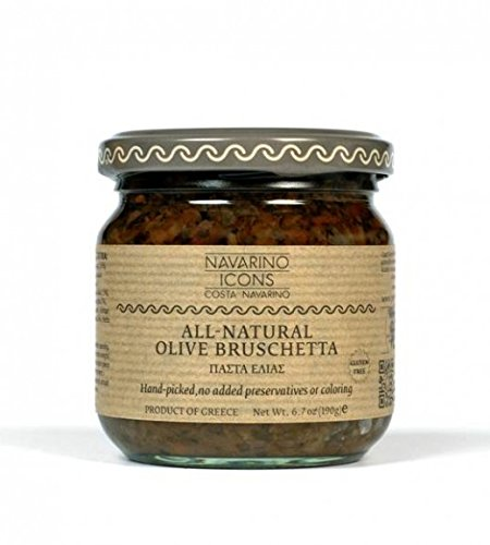 NAVARINO ICONS All-Natural Olive Bruschetta, 6.7 Ounce (Icon Natural)