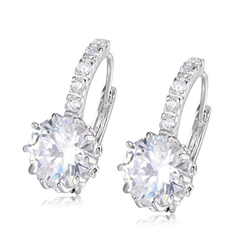 CS-DB White Gold Filled Earring Crystal Stud Earring ()