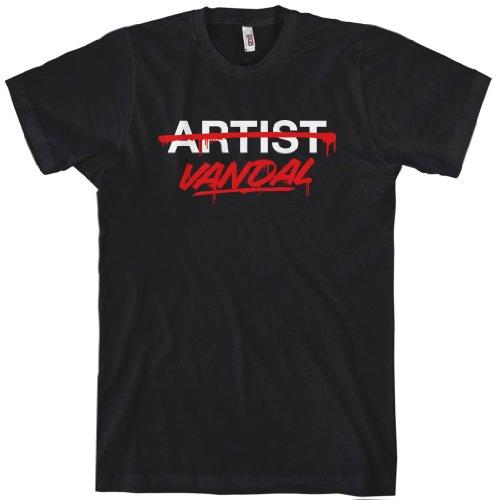 Special Blends Men's Vandal Not Artist T-shirt - Black, X-Large