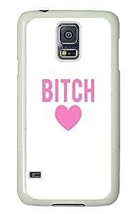 Samsung Galaxy S5 Bitch Love Pink67 PC Custom Samsung Galaxy S5 Case Cover White