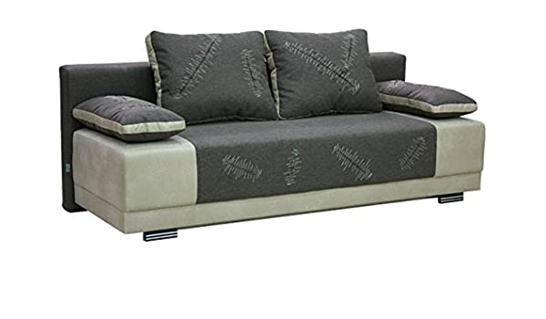LUPE Oscuro Moderno cómodo sofá Cama sofá con Superficie de ...