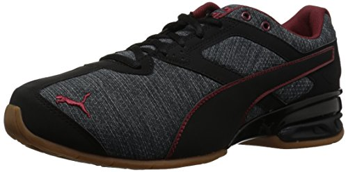 PUMA Men's Tazon 6 Heather Rip Sneaker, Iron gate Black-Pomegranate, 10 M US
