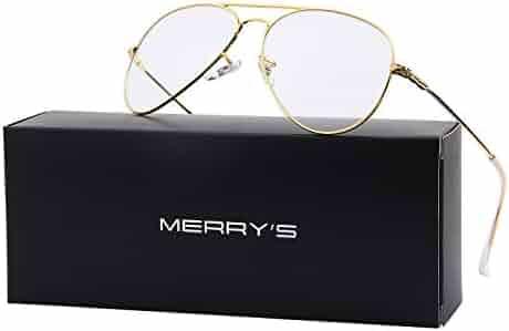 b7204fe9c08 MERRY S Fashion Women Titanium Glasses Frames Men Brand Gold Shield  Eyeglasses S8205