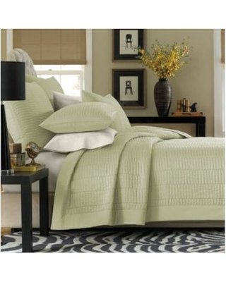 Real Simple Twin Reversible Coverlet in Sage B01MZABJG1
