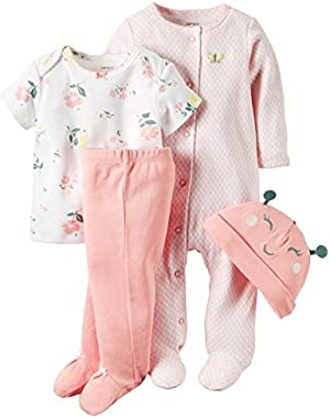Pink Bird 4 Piece Geometric Sleep & Play Set 3 Months