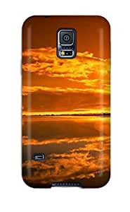 Tpu Shockproof/dirt-proof Amazing Orange Sky Cover Case For Galaxy(s5)
