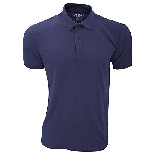 Gildan Mens DryBlend Adult Sport Double Pique Polo Shirt (M) (Navy)
