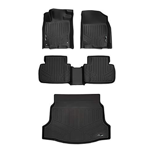 - MAXLINER Custom Floor Mats and Cargo Liner Set Black for 2017-2019 Honda Civic Hatchback (No Sport or Sport Touring Models)