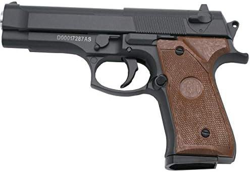 Galaxy Pistola G22 Negra - Pistola Muelle Calibre 6 mm Aleación Metal y Zinc - Energía 0.18 Julios - Velocidad de Disparo 54.3 m/s - 178 FPS. Ref:G22N