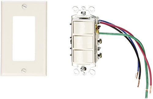 Broan S77DW Rocker 4-Function Switch, White
