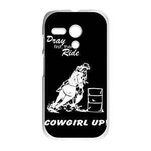 Canting_Good Barrel Racing Cowgirl Custom Case Cover Shell for Motorola g discount