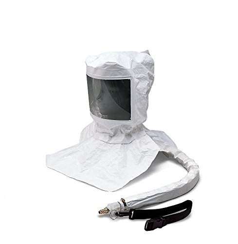 Allegro Industries 9910-D Maintenance Free Tyvek Hood CF SAR Assembly with Suspension and LP Flow Adapter with OBAC Fitting, -
