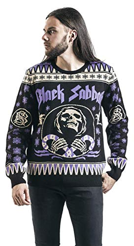 Black Sabbath Holiday Sweater 2017 Knit Sweater Black Lilac Xxl