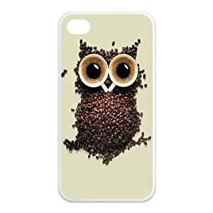 Custom Coffee Unique Iphone 4 4S Protective Rubber TPU cover