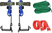 Tree Climbing Spike Set with Safety Belt, 2 Gear Worker Man Tree Climbing Tool for Cutting Tree and Hunting Fr