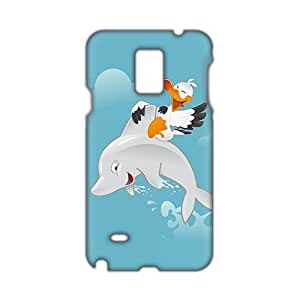 Fresh dolphin and bird 3D Phone Case for Diy For Iphone 5/5s Case Cover