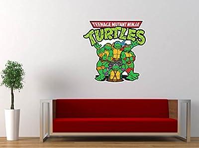 "Teenage Mutant Ninja Turtles Cartoon Vinyl Sticker Decal Large 24""x25"" Wall Room Graphic Decor"