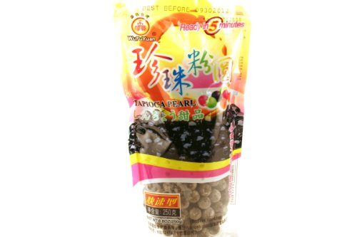 Wufuyuan Black Tapioca Pearl, 9.2 Ounce (Pack of 36) by WuFuYuan