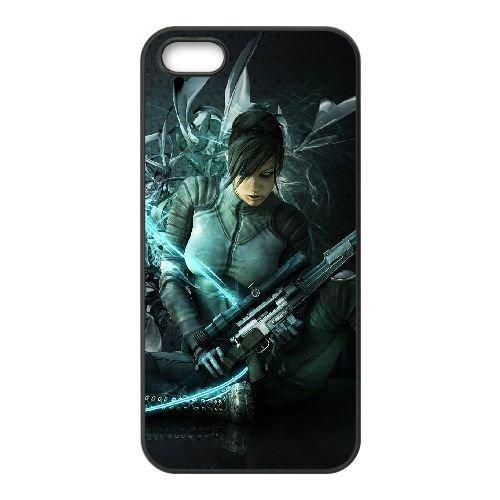 X1W13 voulait armes du destin Q6I0LO coque iPhone 5 5s cellulaire cas de téléphone couvercle coque noire XE8XVX6UC