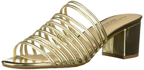 Aerosoles Women's MID Afternoon Sandal, Gold Leather, 5 M US -