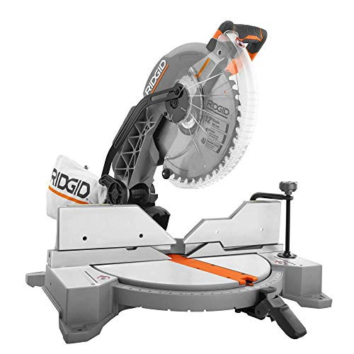 RIDGID 15 Amp Corded 12 in. Dual Bevel Miter Saw with LED