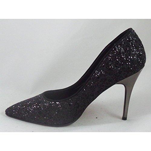 Occasion Black Glitter Court Shoe 7Bo15rBkD