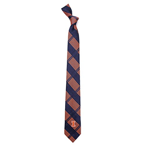 - Eagles Wings University of Illinois Skinny Plaid Tie