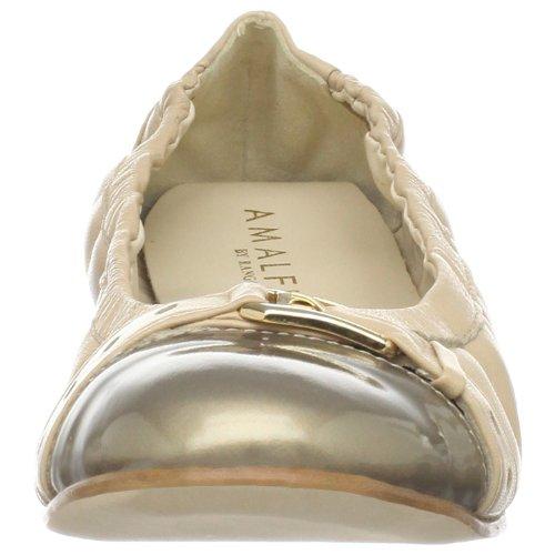 Amalfi Door Rangoni Vrouwen Camilla Ballet Platte Tortora Nappa / Taupe Patent
