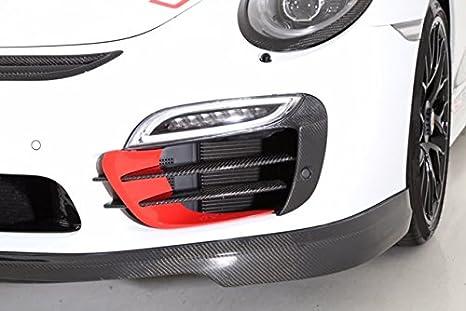 Amazon.com: 2014 Porsche 991 Turbo S Front Bumper Carbon Fiber Grill & Blade enhancements: Automotive