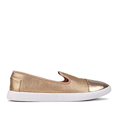Betts Women's Rose Gold Sumo Casual Slip on Shoes, 10
