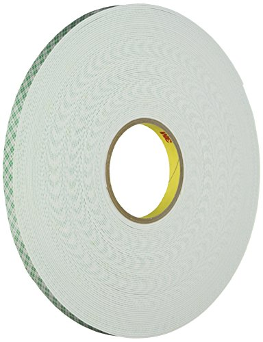 - 3M Double-Coated Foam Tape, Holds 2 Lb, 1/2-Inch X 36 Yards (MMM401612)