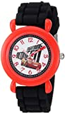 Disney Boy's 'Cars 3' Quartz Plastic and Silicone Casual Watch, Color:Black (Model: WDS000523)