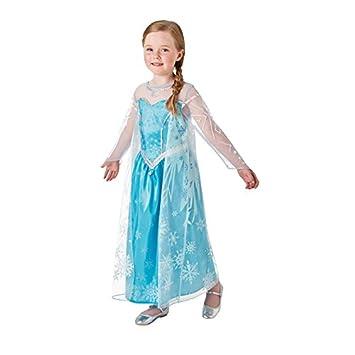 Rubie s-déguisement officiel - Disney- Deguisement Luxe Elsa Reine des  Neiges- Taille 3 a0f59ee7e85e
