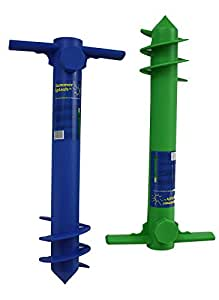 Seasonal Industries, Inc. - Plastic Beach Umbrella Anchor - 1 Unit (Color: colors may vary)