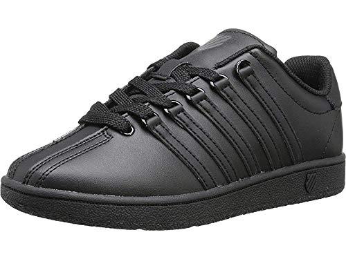 K-Swiss CLASSIC VN Black/Black,5 M US Big Kid (Black School Shoes For Boys)