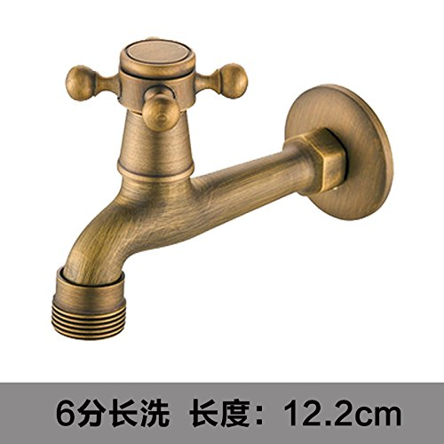 D4 Lpophy Bathroom Sink Mixer Taps Faucet Bath Waterfall Cold and Hot Water Tap for Washroom Bathroom and Kitchen Copper Antique Single Cold C3